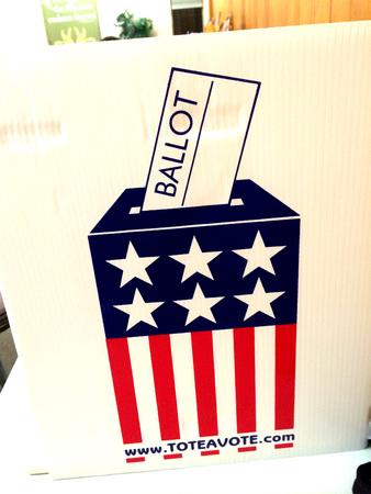 LEWISTON  IDAHO STATE  USA-americani voto midterms elezioni del tudesay oggi su 4 .NOVEMBER 2014