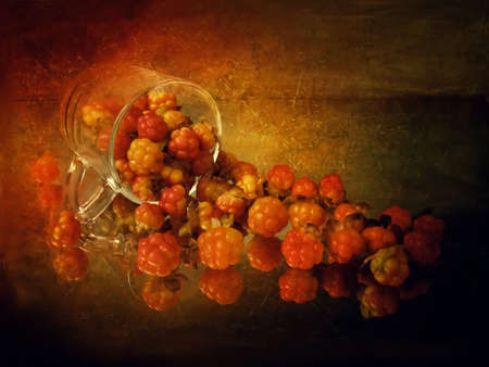 still life with cloudberries