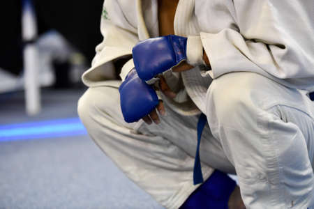 ju-jitsu fighter after the fight
