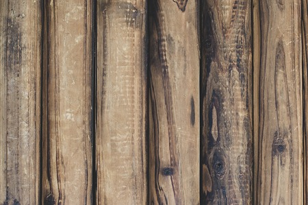 Old brown wooden boards to use as background or template. Empty space for text. Vintage wood texture.