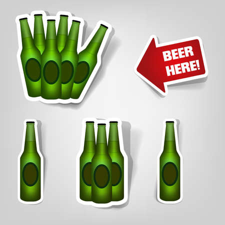 set of design elements to advertise beer party Vector