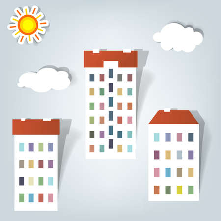 a set of elements design for advertising real estate services Illustration