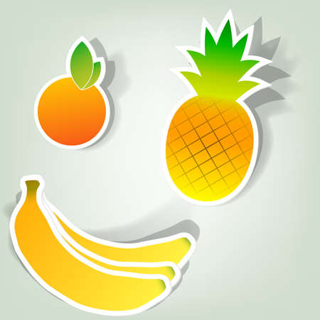 a set of design elements to advertise fruit Vector