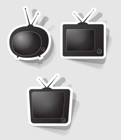 set of retro televisions of different forms