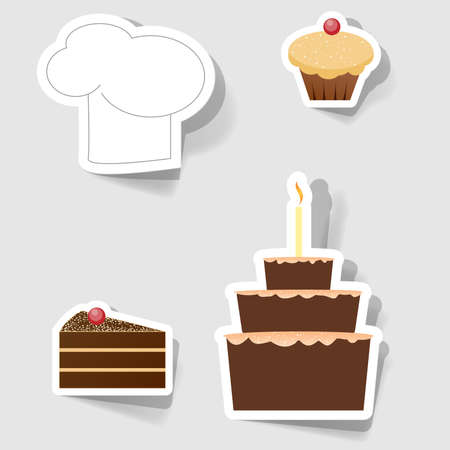 Set of icons for commercial restaurants and cafes Illustration