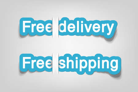 Free delivery and free shipping; realistic cut, takes the background color Stock Vector - 9893197