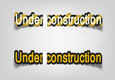 Under construction; realistic cut, takes the background color Stock Vector - 9893198