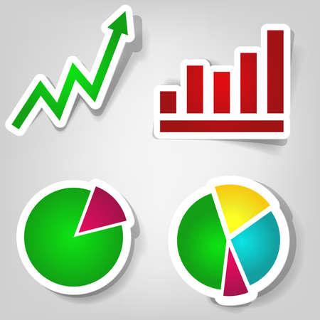 set of design elements for making presentations Vector