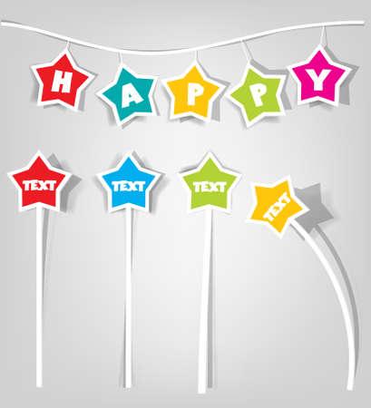 set of design elements for decoration festive posters