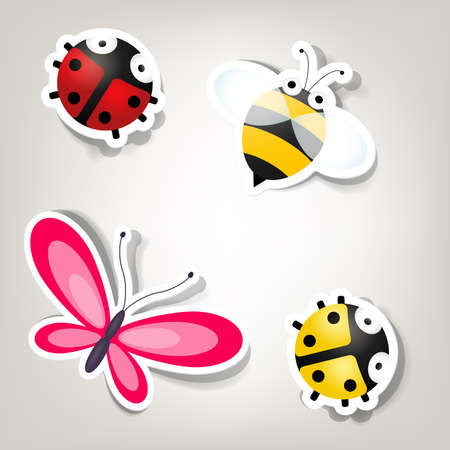 mariposas amarillas: conjunto de iconos sobre el tema de la naturaleza