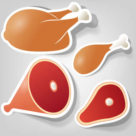 a set of elements design for advertising food Vector