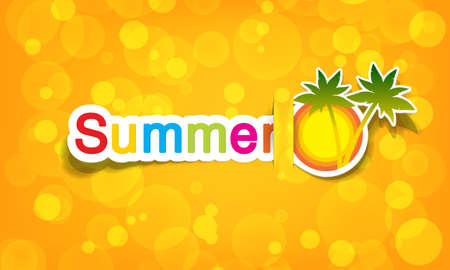 vector summer; realistic cut, takes the background color Vector