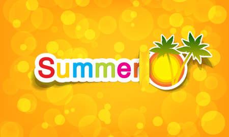 zomer: vector zomer; realistische knippen, neemt de achtergrondkleur
