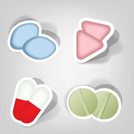 set of design elements for advertising pharmacies Stock Vector - 9946142