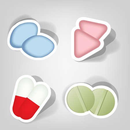 set of design elements for advertising pharmacies