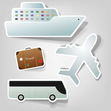 a set of design elements to advertise travel services Vector