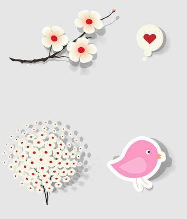 birdie: collection of icons of Japanese subjects Illustration