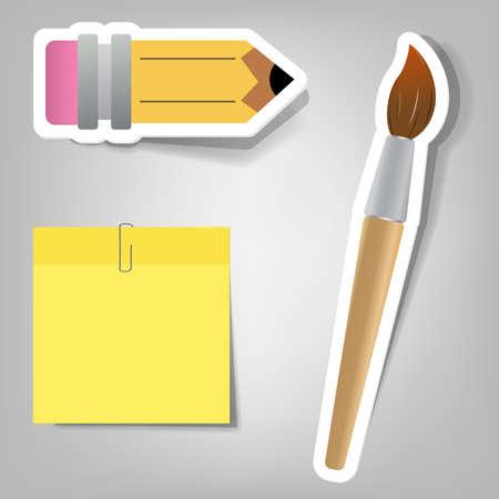 set van ontwerp elementen voor de school tijd adverteren