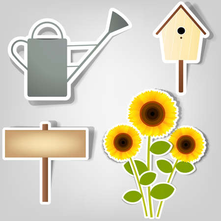 set of design elements to advertise gardening tools Stock Vector - 10566063