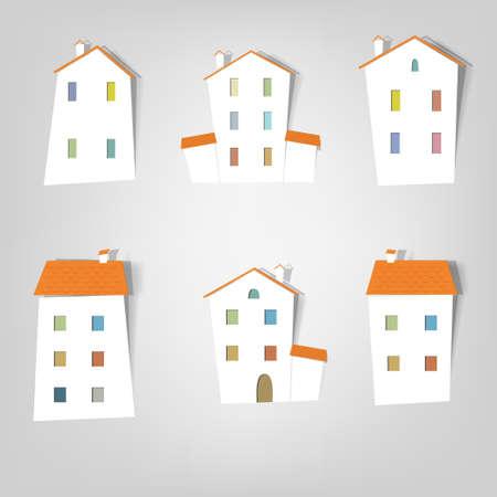 tile roof: un insieme di elementi di disegno per beni pubblicitari reali