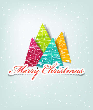 vector template for a Christmas card Vector