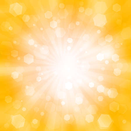 abstract orange background with the flash and flare