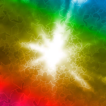 Abstract colorful background with flash and stars Vector