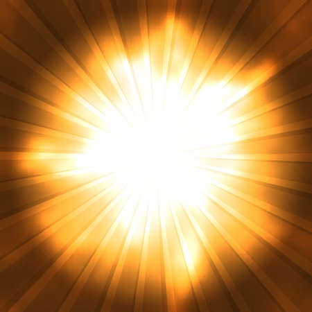Orange rays converge toward the center. Abstract background Vector