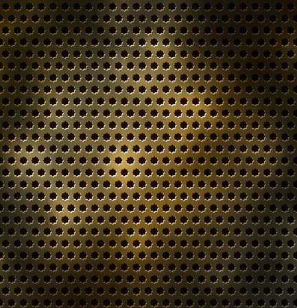 Metal grid with holes in the form of a star. Seamless vector background Stock Vector - 11620618