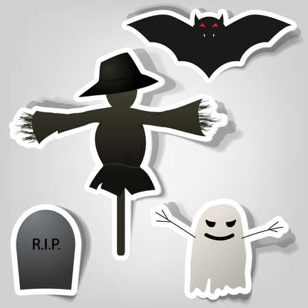 symbols of Halloween for poster Vector