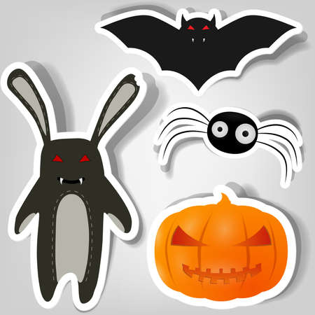 cartoon vampire: symbols of Halloween for poster Illustration