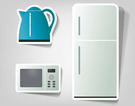 set icon of household appliances Stock Vector - 11620619