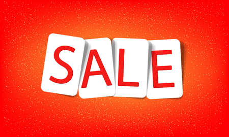 word sale on a red background