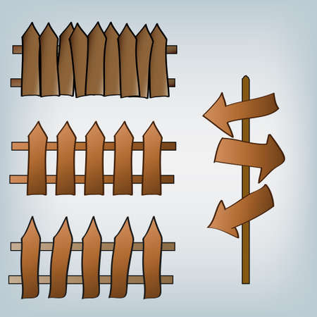 vector cartoon fence Stock Vector - 11620553
