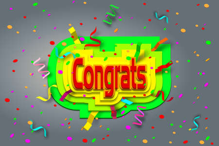 laud: vector congrats