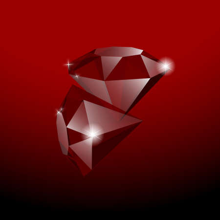 two red gems Stock Vector - 11620598