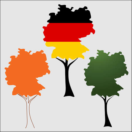 Contour of Germany in the form of tree crown Vector