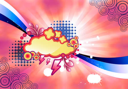 spotted ray: abstract colorful illustration