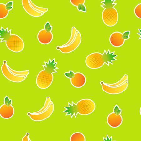 Seamless pattern of stylized fruit Vector