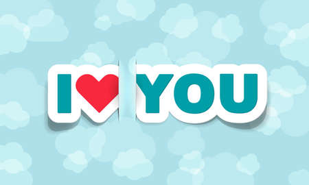 vector i love you; realistic cut, takes the background color Vector