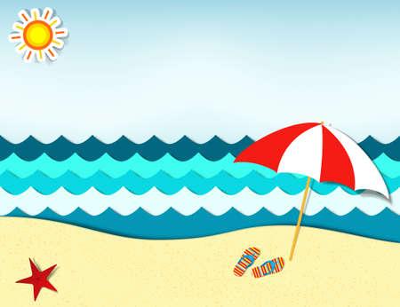 beach landscape  イラスト・ベクター素材