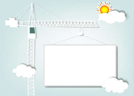 steel construction: illustrazione della carta gru a torre Vettoriali
