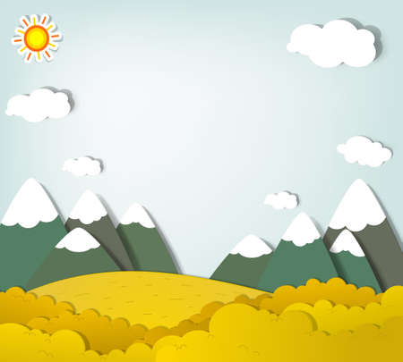 applique  Autumn mountain landscape Vector