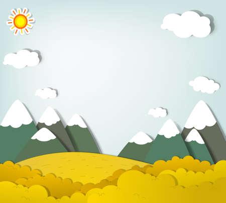 sol caricatura: applique Oto�o paisaje de monta�a