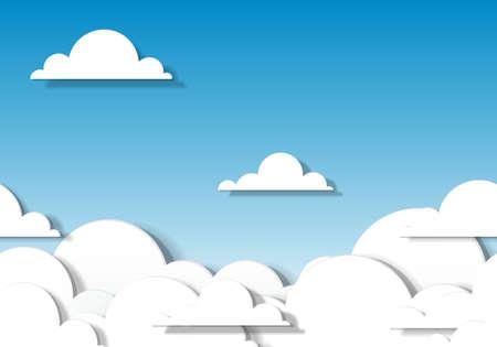 papier wolken Naadloze patroon