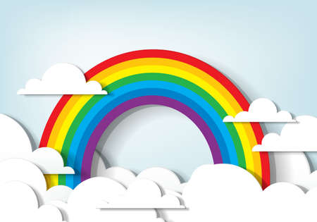 applique  Rainbow and clouds