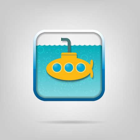 submarino: cartel con un submarino amarillo