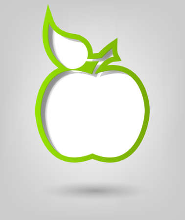 creative poster template  green apple Vector