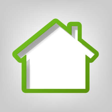 maison: cr�ative affiche mod�le de la maison verte