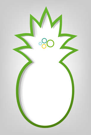 creative poster template  green pineapple Vector